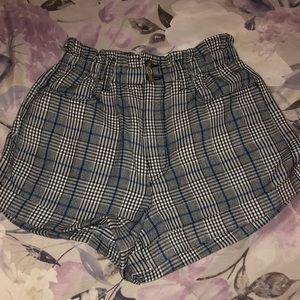 Plaid mom shorts